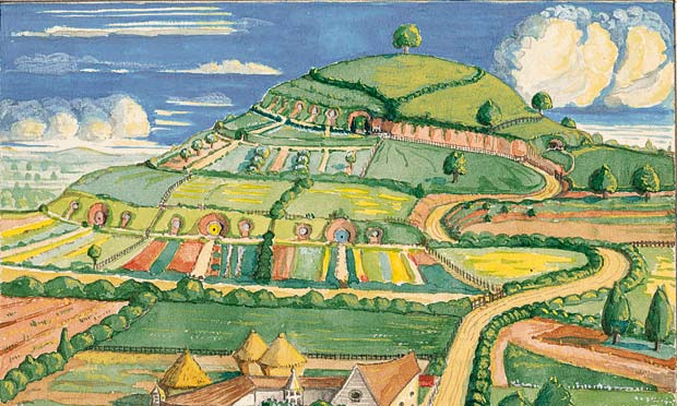 Tolkien's art work for Hobbiton-across-the-water